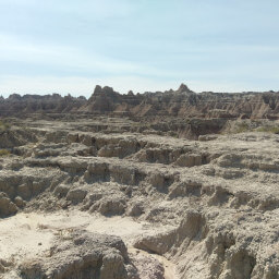 Layers upon layers of rock compose the cool geology of the badlands