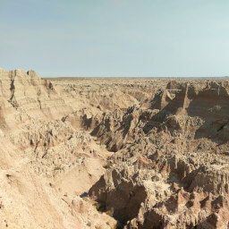 The end of this trail is a window into the awesome formations of the badlands