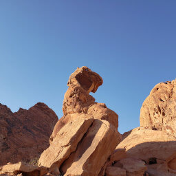 The precariously perched boulder known as Balancing Rock