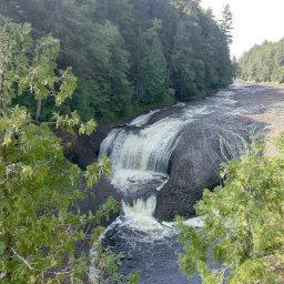 The Black River as it cascades down Potawatomi Falls