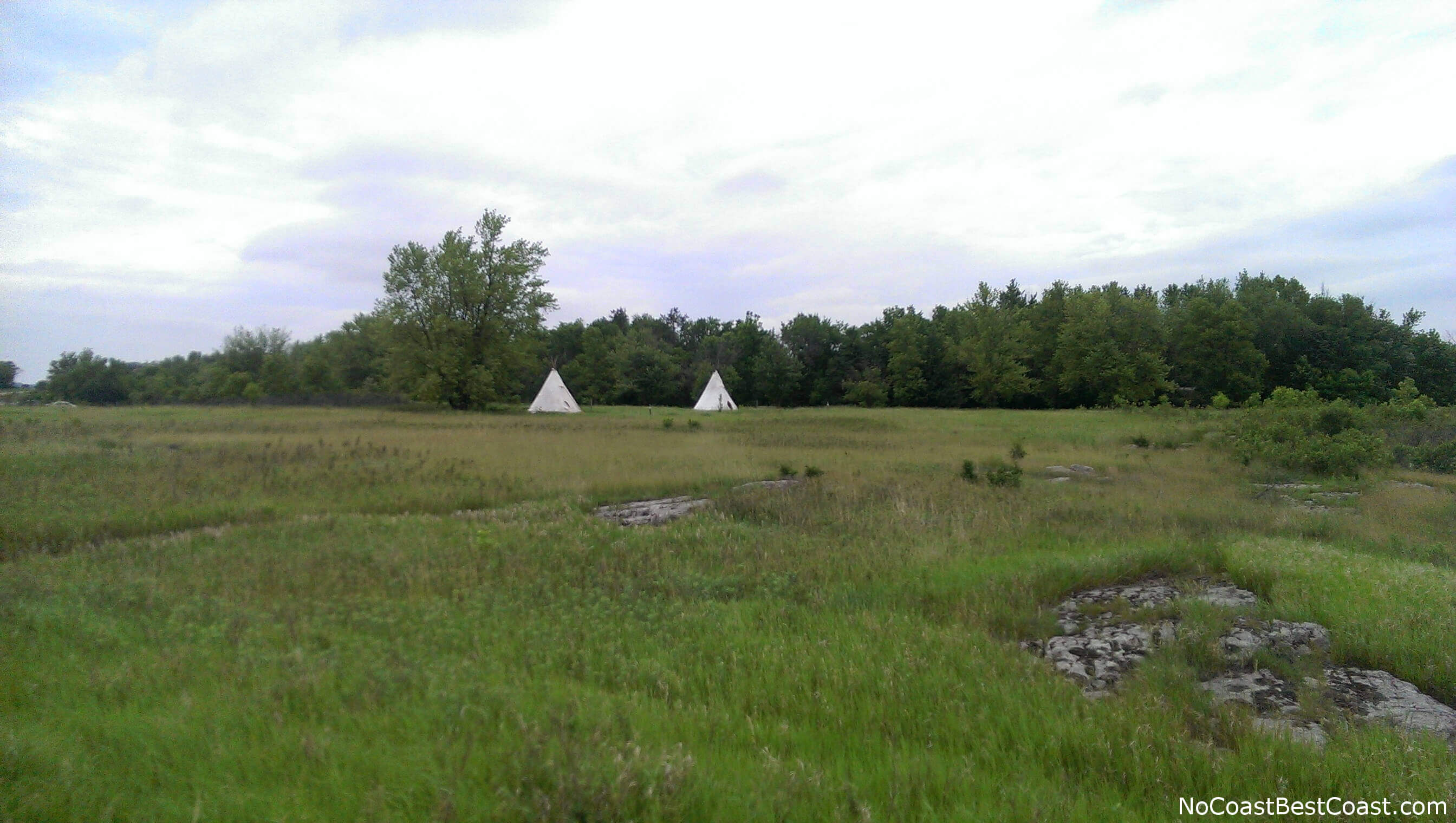 Believe it or not, you can book a stay in one of these teepees