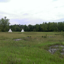You can rent these teepees at Blue Mounds State Park in Minnesota.