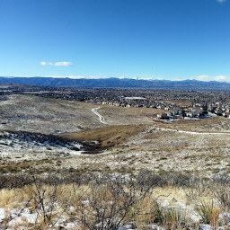 The view of the Rockies from the overlook