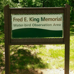 The Fred E. King Memorial Water-bird Observation Area.
