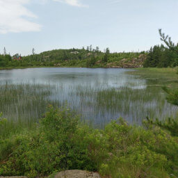 This view of Saganaga Lake greets you almost immediately after starting on the trail