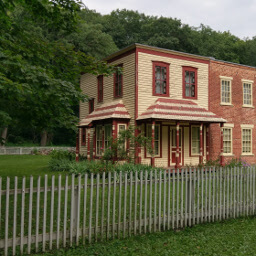 See these historic buildings from the 19th Century in Forestville State Park
