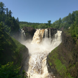 The main event: High Falls at Grand Portage State Park