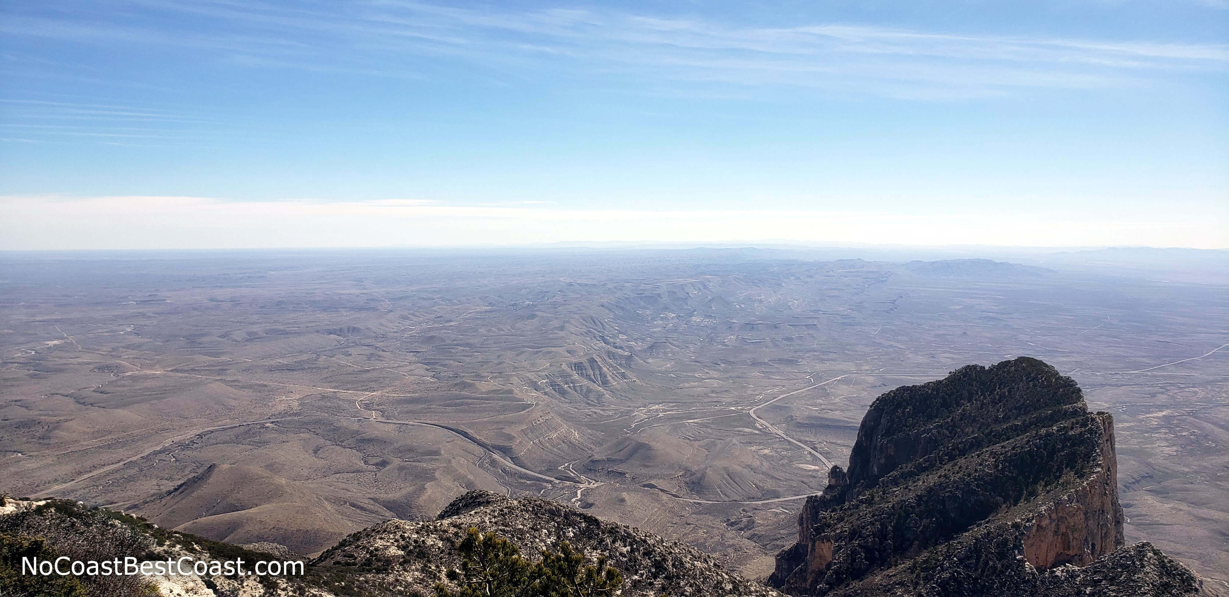 El Capitan and the Chihuahuan Desert extending into Mexico