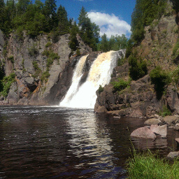 The highest waterfall in Minnesota