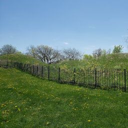 The burial mounds in spring