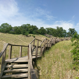 The endless staircase on the descent of Mt. Tom