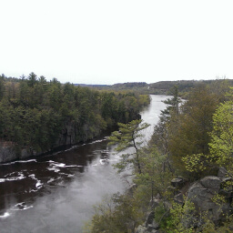 The view of the St. Croix River from an overlook on the River Trail