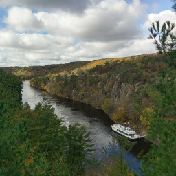 Impressive cliffs line the St. Croix River