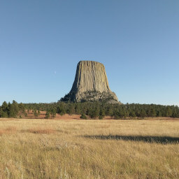 Joyner Ridge gives the best views of Devils Tower from a distance