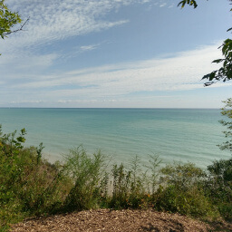Lake Michigan from atop the bluffs