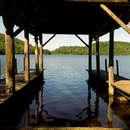 View of Mic Mac Lake from the dock