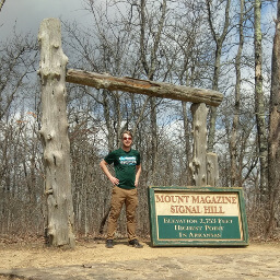 That's me standing at the highest point in all of Arkansas!