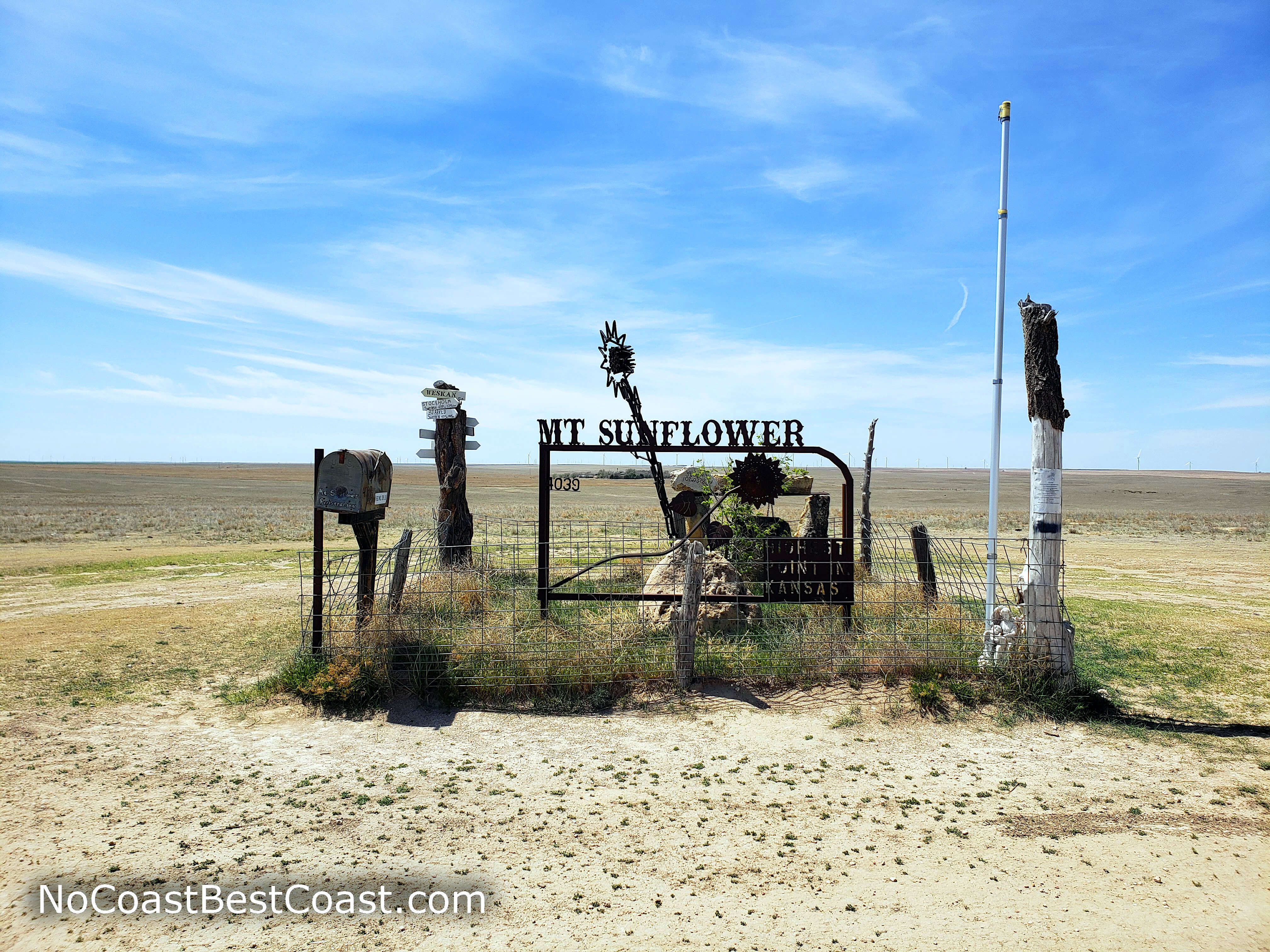 Mount Sunflower's summit monument