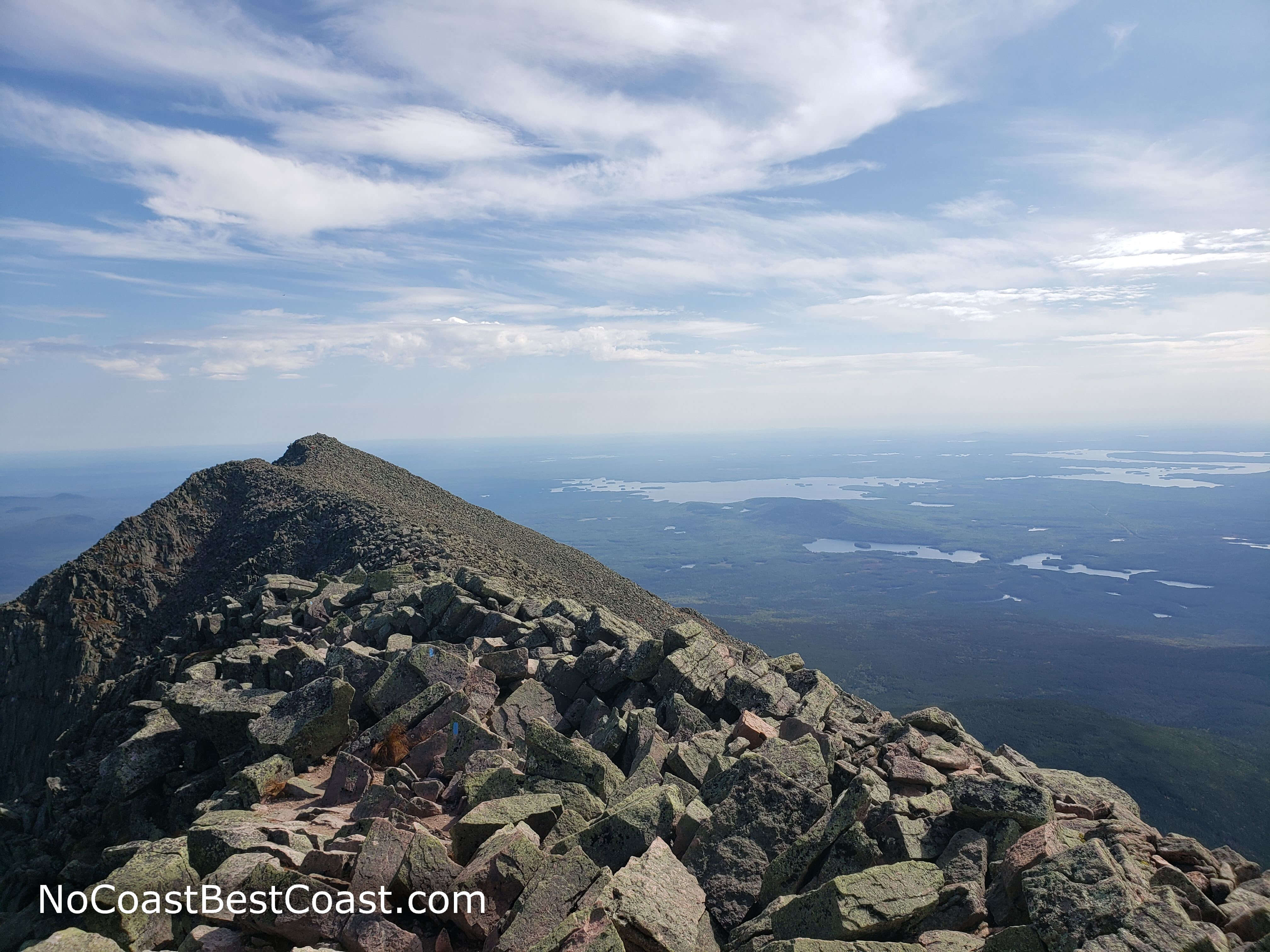 The view from the top of Mt. Katahdin