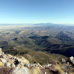 The view southeast from the summit of Mount Wrightson