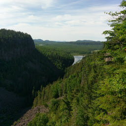 The impressive Ouimet Canyon