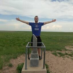 That's me at the marker for the highest point in Nebraska!