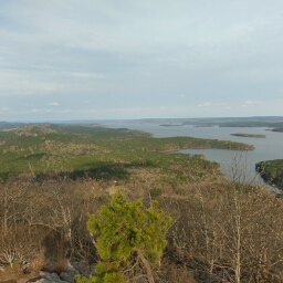 Lake Maumelle as viewed from the summit