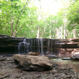 This pretty little waterfall is just a short drive from Omaha and an easy hike away!