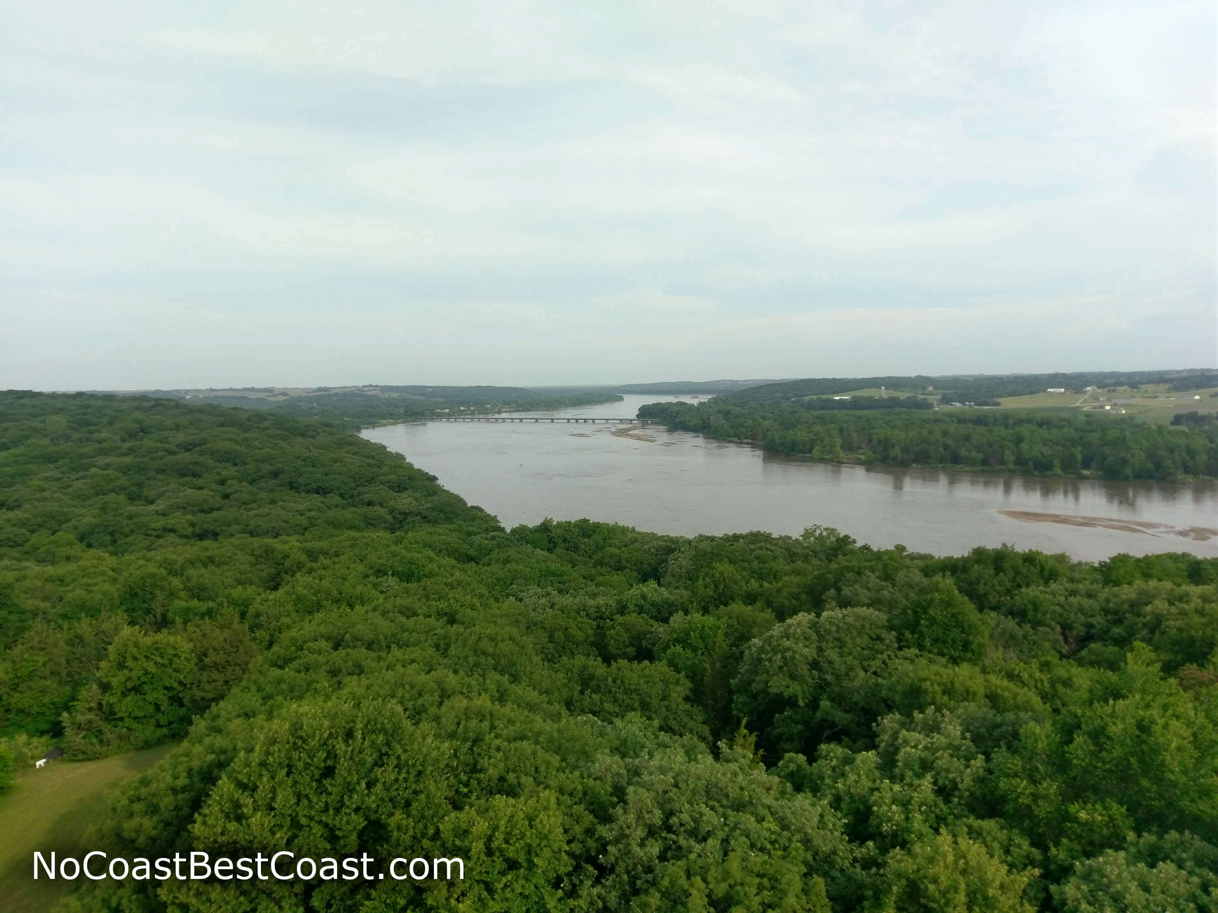 The view of the Platte River from the observation tower