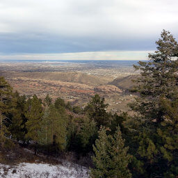 The view of Denver from the Plymouth Mountain Lookout