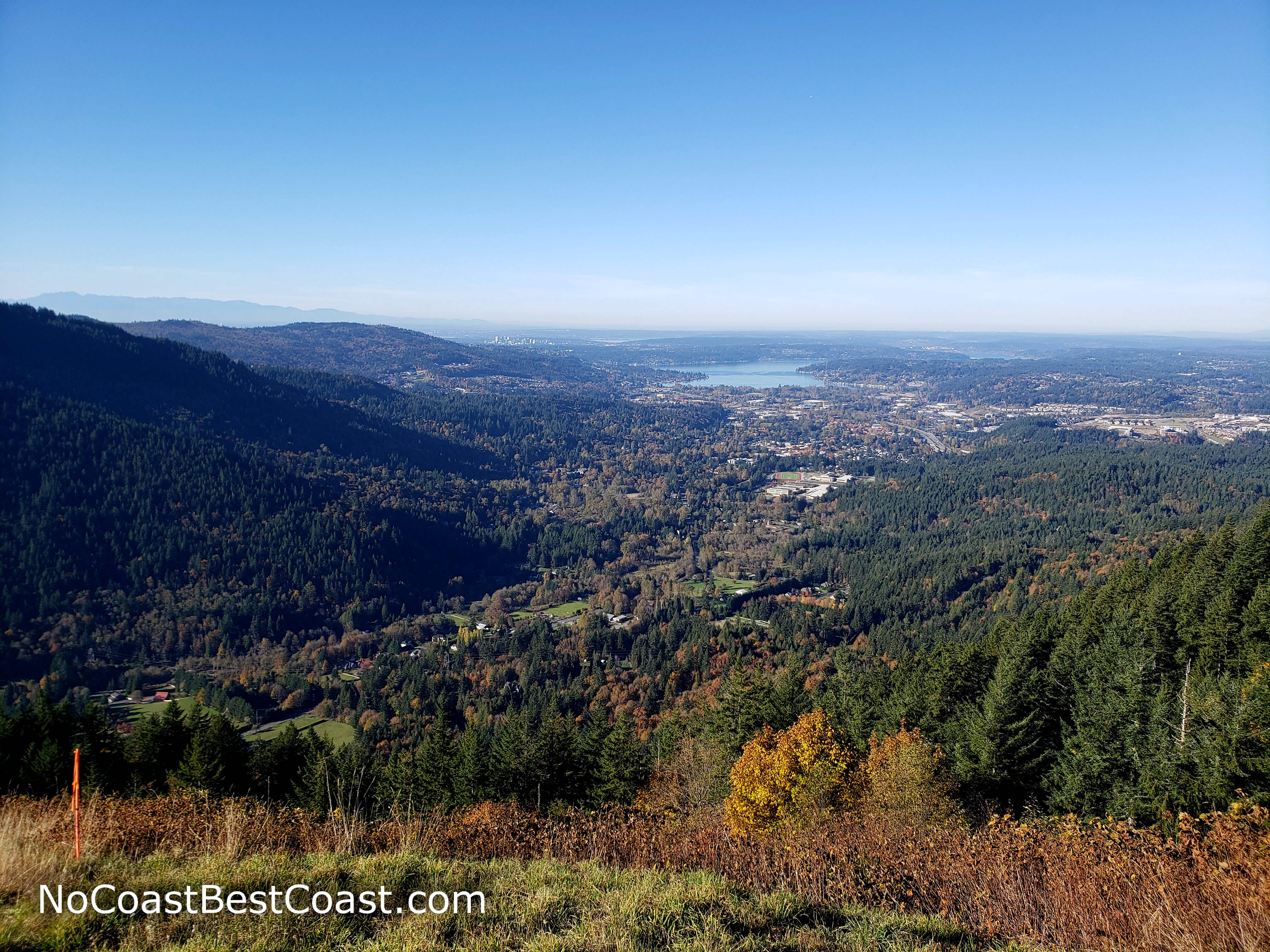 Lake Sammamish and downtown Bellevue in the distance from Poo Poo Point