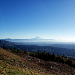 Poo Poo Point has an amazing view of Mt. Ranier