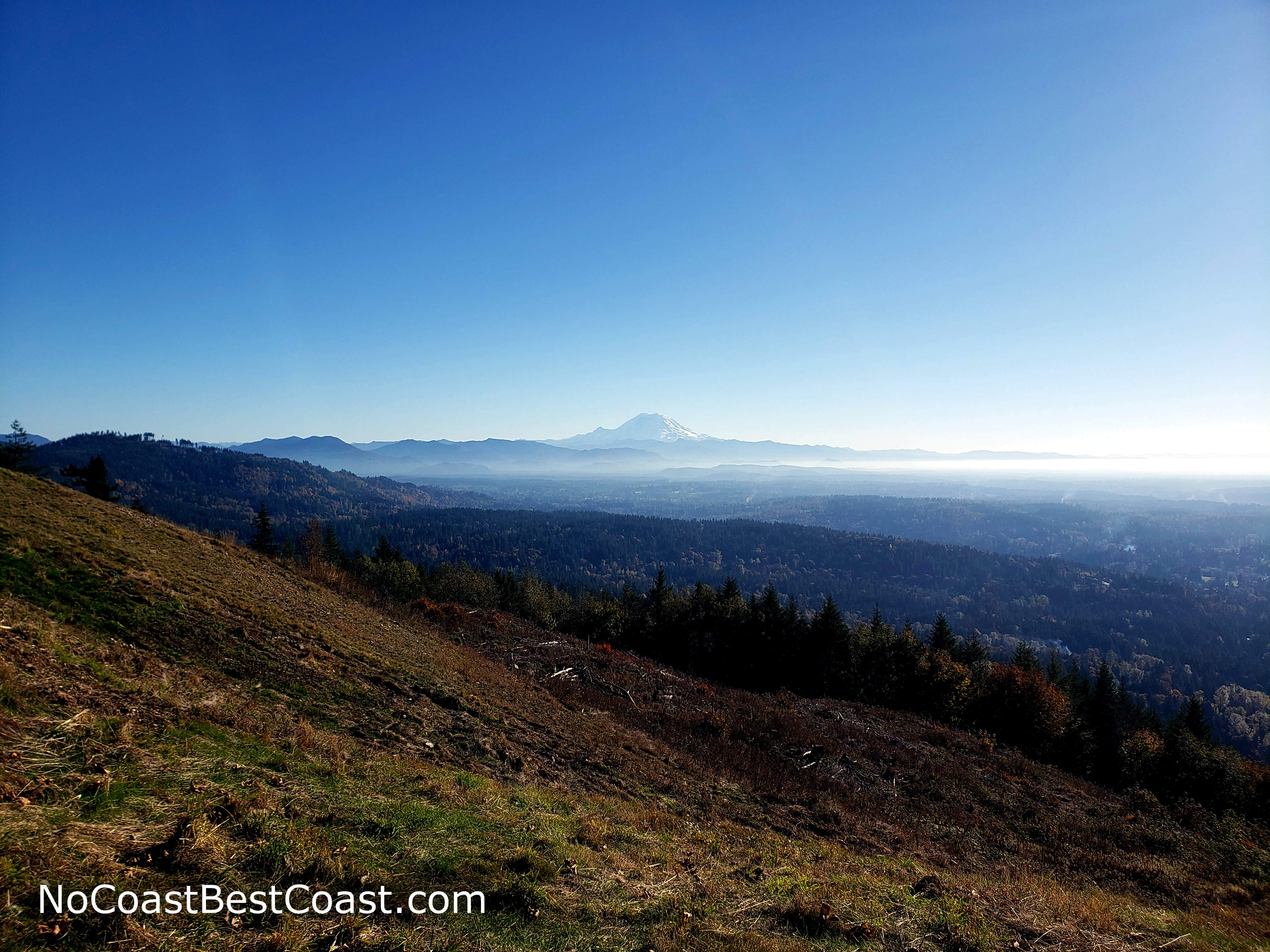 The amazing, unobstructed view of Mount Ranier from Poo Poo Point