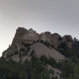 The famous four presidents on Mount Rushmore