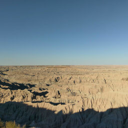 Vast views of the badlands from Red Shirt Table