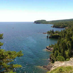 The marvellous cliffs along Lake Superior
