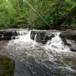 The beautiful waterfall on Joe Creek