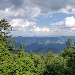 Views to the east from Spruce Knob