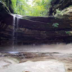 The waterfall at the end of LaSalle Canyon