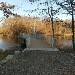 The bridge over Bridge Pond