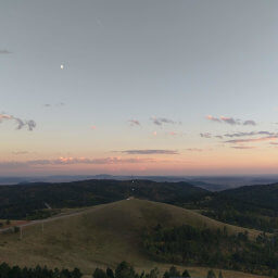 Sunsets are particularly amazing on top of Warren Peak